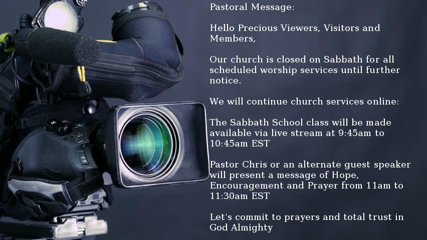 Pastoral Message